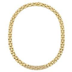 "Cartier Diamond Gold ""Maillon Panthère"" Collar Necklace"