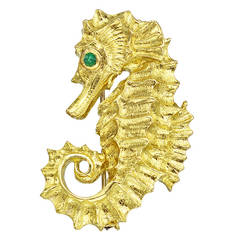 David Webb Gold Seahorse Pin