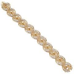 Tiffany & Co. Diamond Gold Braided Twistwire Bracelet