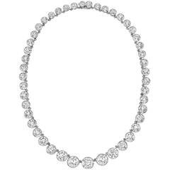 Tiffany & Co. Important Diamond Riviere Necklace