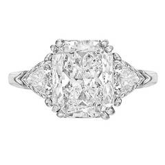 5.04 Carat Radiant-Cut Diamond Engagement Ring