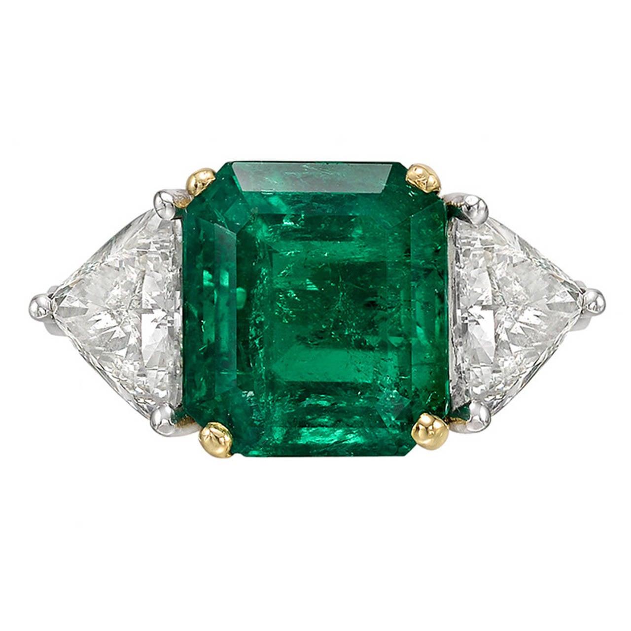 5 32 carat emerald platinum ring at 1stdibs