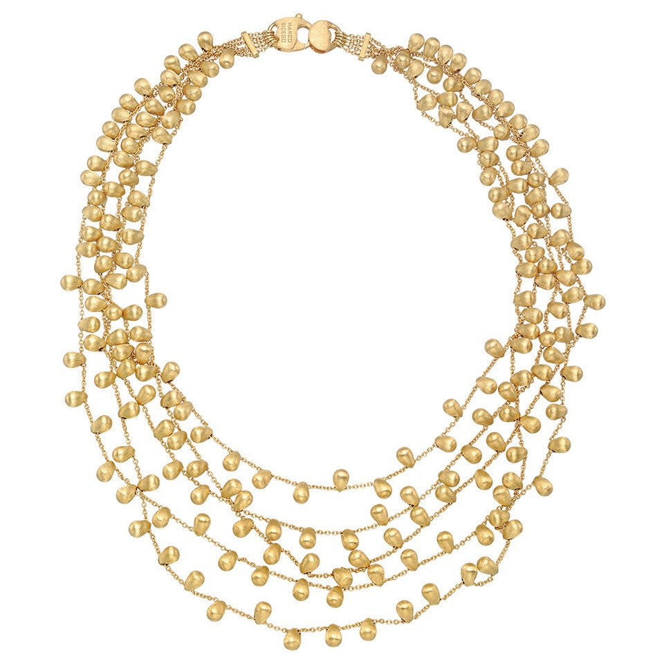 Marco Bicego Necklace Marco Bicego Five Strand Gold