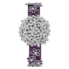 Van Cleef & Arpels Lady's White Gold Diamond Socrate Wristwatch
