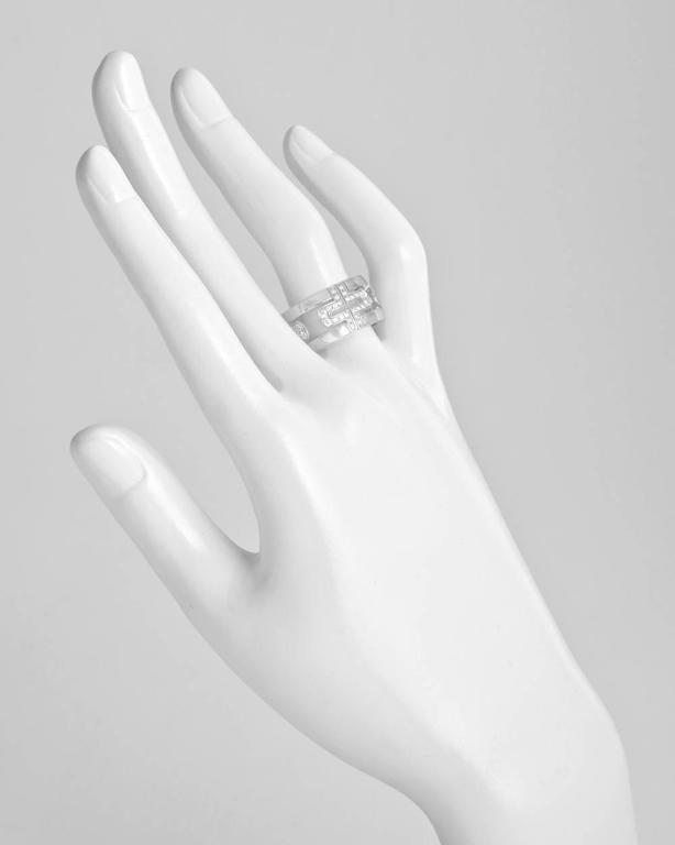 bulgari large diamond gold parentesi band ring 2