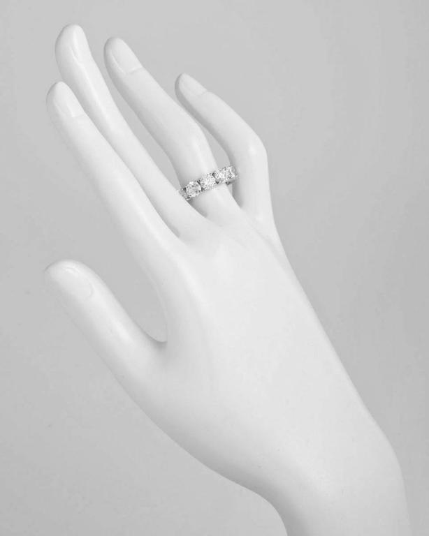 Round Brilliant GIA Cert Diamond Platinum Eternity Band Ring 2