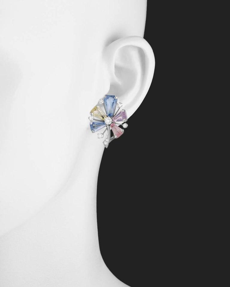 J E Caldwell Multicolored Pastel Sapphire Diamond