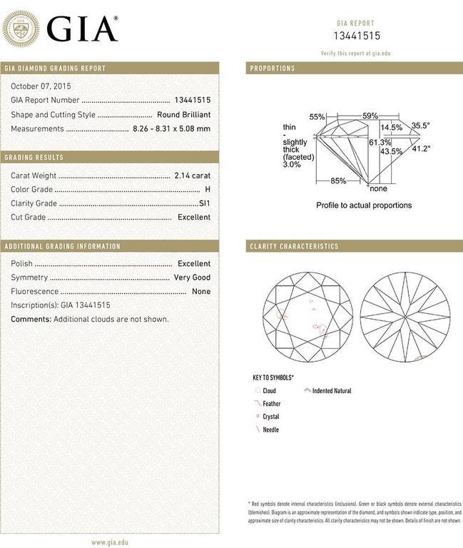 Round Brilliant Diamond Stud Earrings (4.29 ct tw) 3
