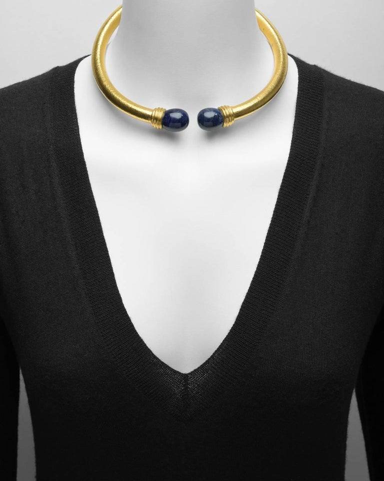 Lalaounis Yellow Gold Lapis Collar Necklace 2