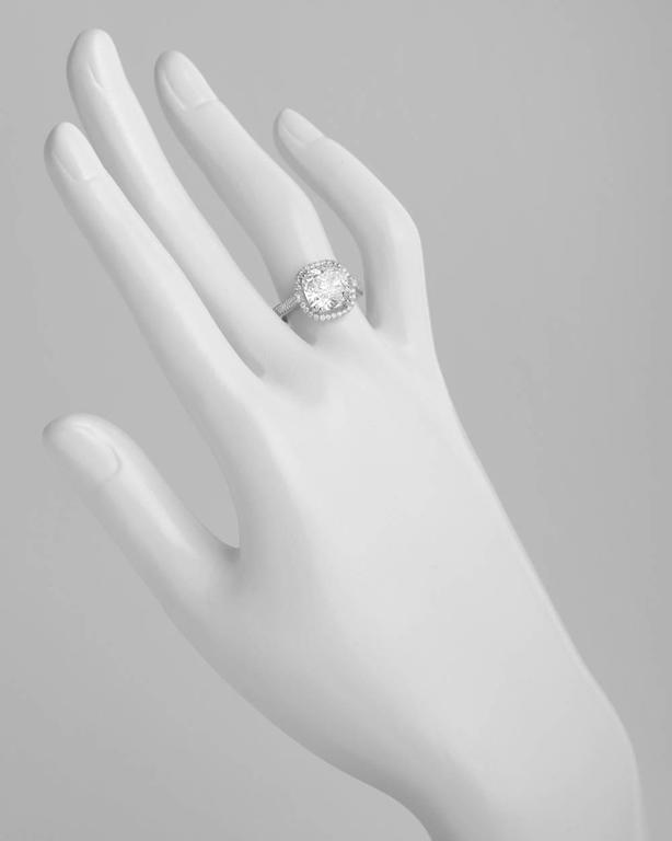 Betteridge 4 20 Carat Cushion Cut Diamond Ring For Sale at 1stdibs