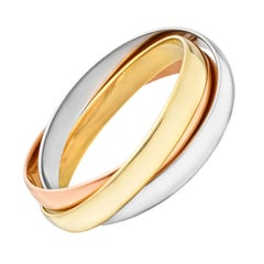 Cartier Large Tri-Colored Gold Trinity Bangle