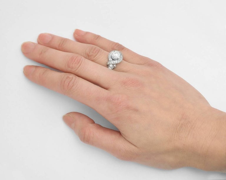 d808b804a Tiffany & Co. 1.36 Carat Round Brilliant Diamond Schlumberger Engagement  Ring In Excellent Condition For