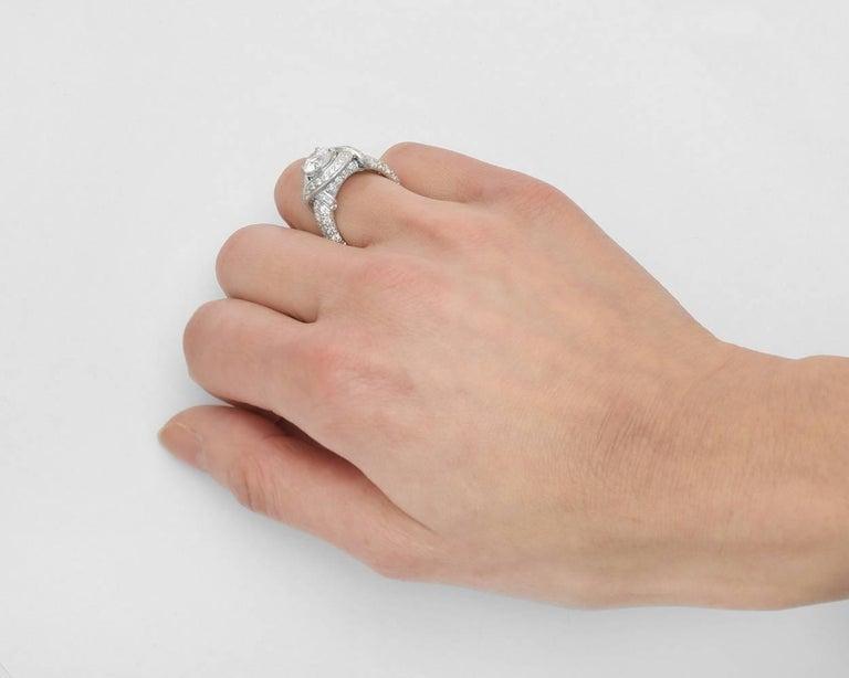 bcaedd450 Women's or Men's Tiffany & Co. 1.36 Carat Round Brilliant Diamond  Schlumberger Engagement Ring For