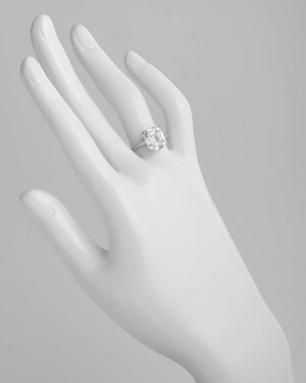 graff 4 34 carat emerald cut solitaire engagement