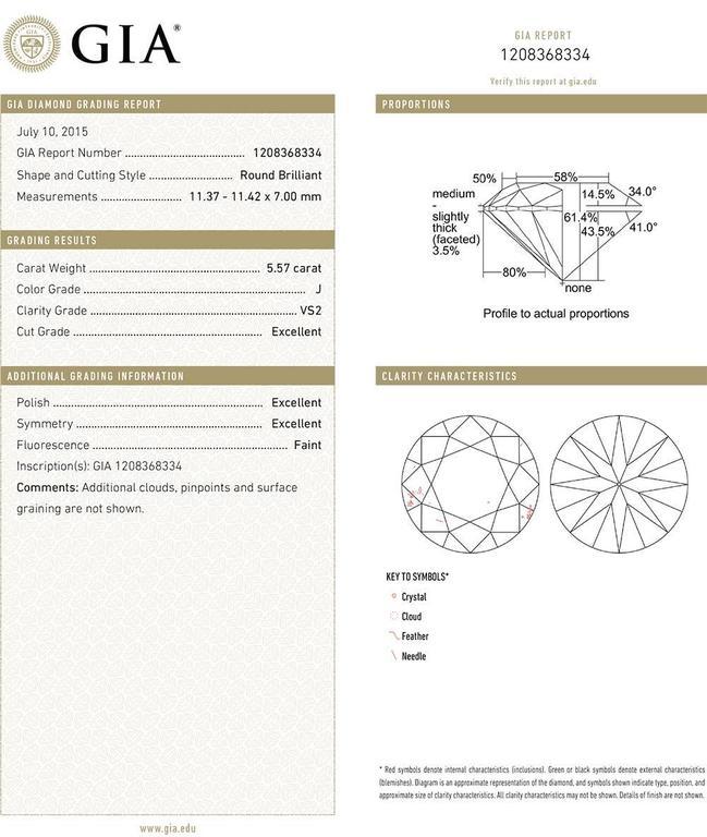 Betteridge Round Brilliant Diamond Stud Earrings (11.17 ct tw) 4