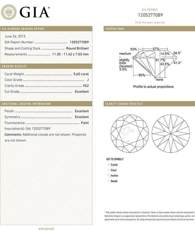 Betteridge Round Brilliant Diamond Stud Earrings (11.17 ct tw) 3
