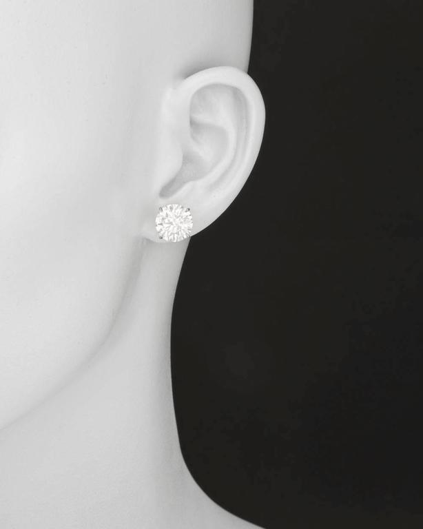 Betteridge Round Brilliant Diamond Stud Earrings (11.17 ct tw) 2