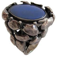 Rachel Gera Lapis Lazuli Sterling Silver Ring