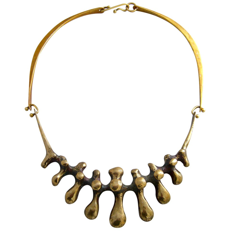 Jack Boyd Hinged Bronze Necklace At 1stdibs