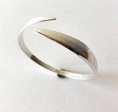 David Andersen Sterling Silver Norwegian Modernist Arm Bracelet