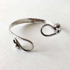 Anna Greta Eker Sterling Silver Norwegian Modernist Upper Arm Bracelet