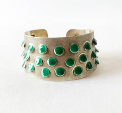 Grete Prytz Kittelsen for Tostrup Plated Sterling Enamel Norwegian Cuff Bracelet
