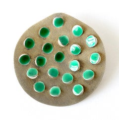 Grete Prytz Kittelsen for Tostrup Plated Sterling Enamel Norwegian Modern Brooch