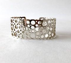 Liisa Vitali Sterlinog Silver Finnish Modernist Pitsi Ladybird Cuff Bracelet