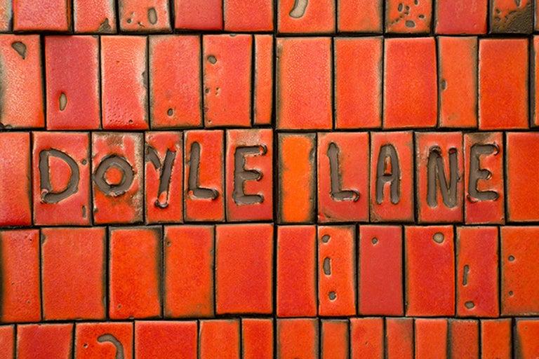 Doyle Lane Ceramic Brass Steel California Studio Pottery Necklace For Sale 1