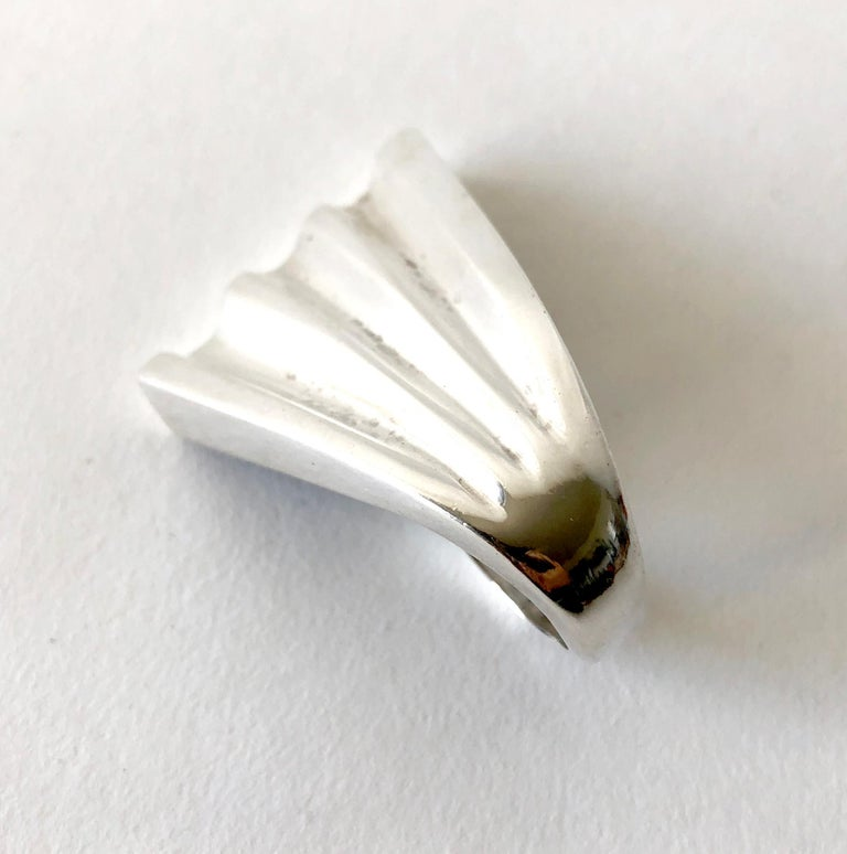 Women's Patricia Von Musulin Sterling Silver Modernist Winged Ring For Sale