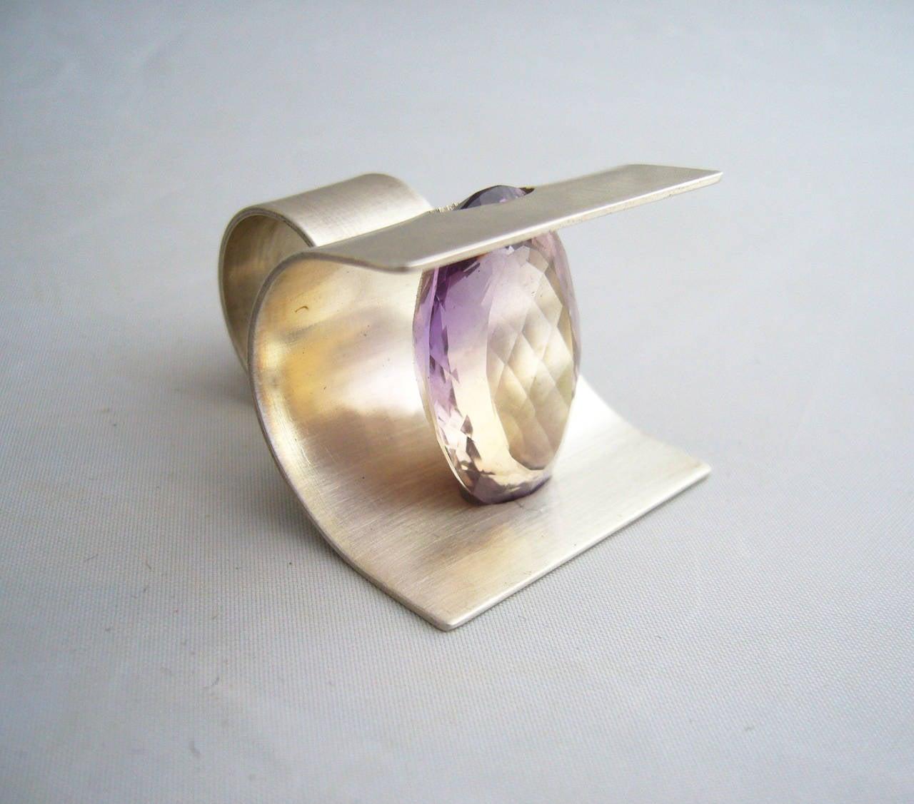 Women's Heidi Abrahamson Sterling Silver Ametrine Ring For Sale