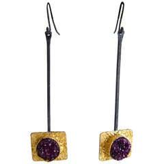 Heidi Abrahamson Sterling Silver Druzy Earrings