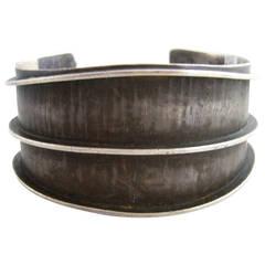 Lasnier Sterling Silver American Modernist Cuff Bracelet