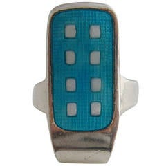 Grete Prytz Kittelsen for Tostrup Norwegian Modernist Domino Ring