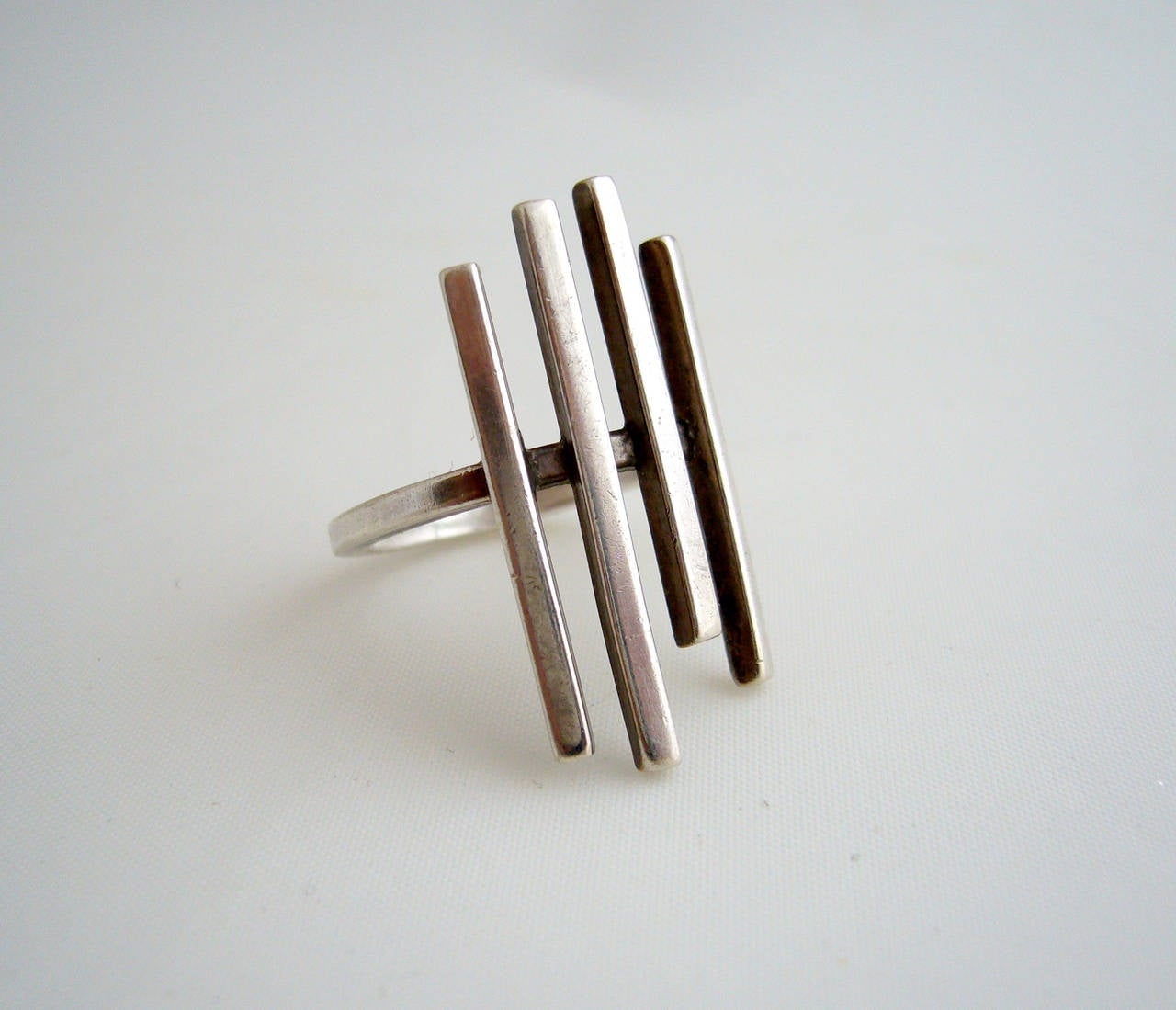 Women's Betty Cooke Sterling Silver Minimalist Sticks Ring For Sale