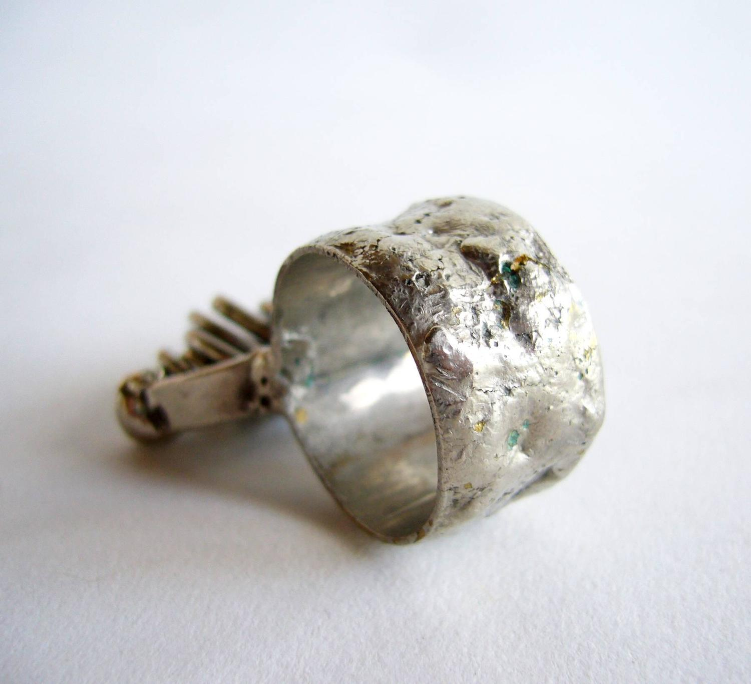 pal kepenyes silver plate kinetic ring for sale at 1stdibs