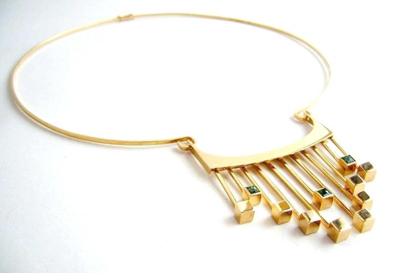 Women's Paula HaIvaoja for Kaunis Koru Tourmaline Gold Necklace For Sale