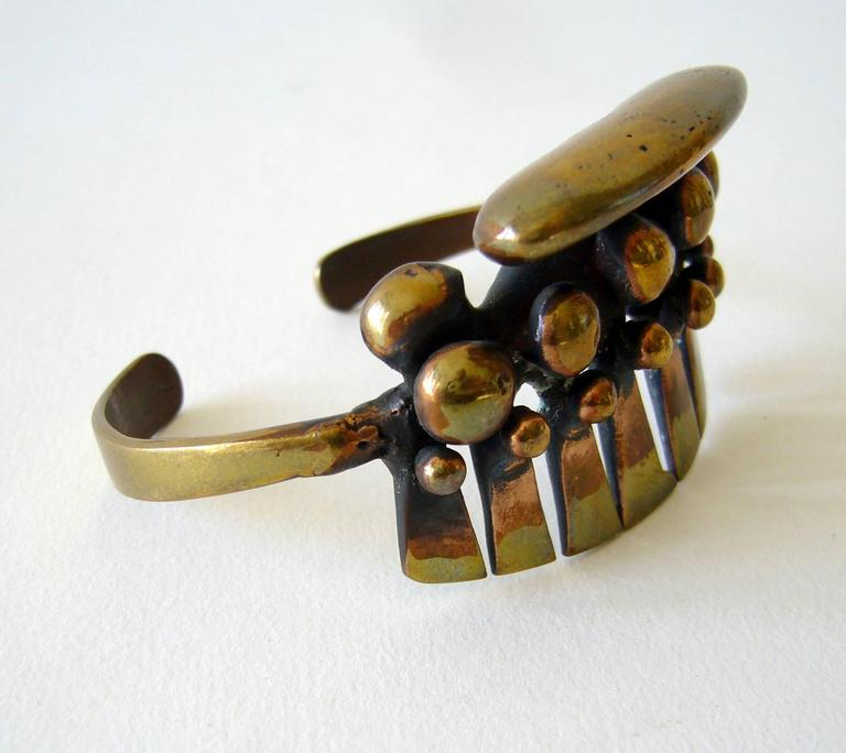 Jack Boyd San Diego Studio Bronze Cuff Bracelet In Excellent Condition For Sale In Los Angeles, CA