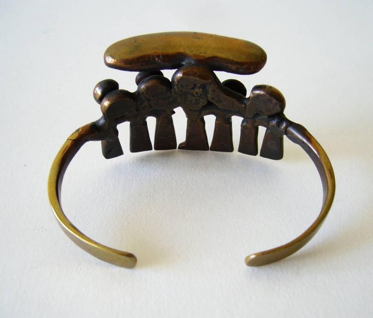 Women's or Men's Jack Boyd San Diego Studio Bronze Cuff Bracelet For Sale