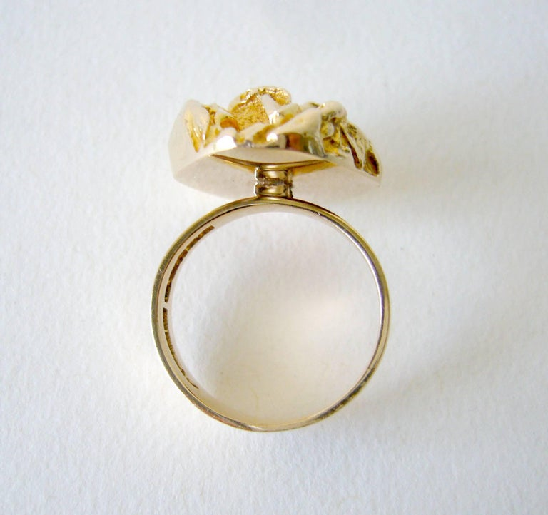 Bjorn Weckstrom for Lapponia Gold Yellow Rose Engagement Ring In Excellent Condition For Sale In Los Angeles, CA