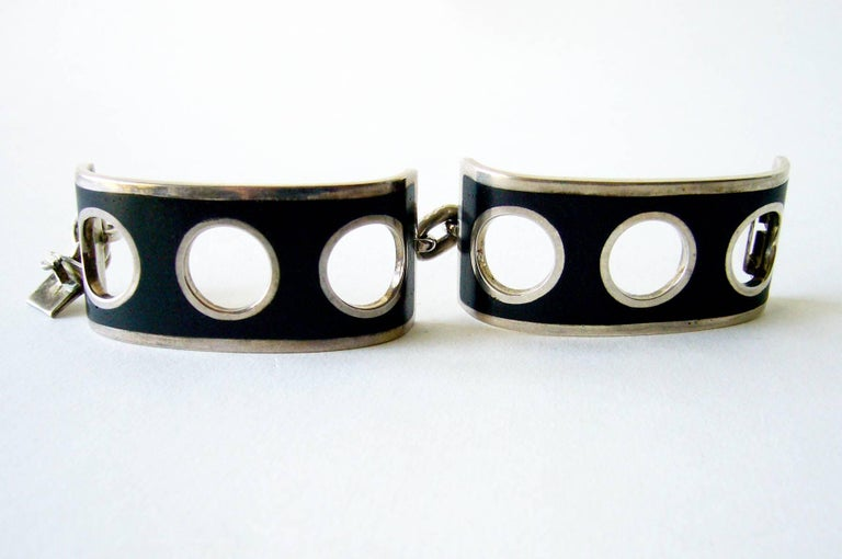 Jose Maria Puig Doria Sterling Silver Spanish Modernist Bracelet In Excellent Condition For Sale In Los Angeles, CA