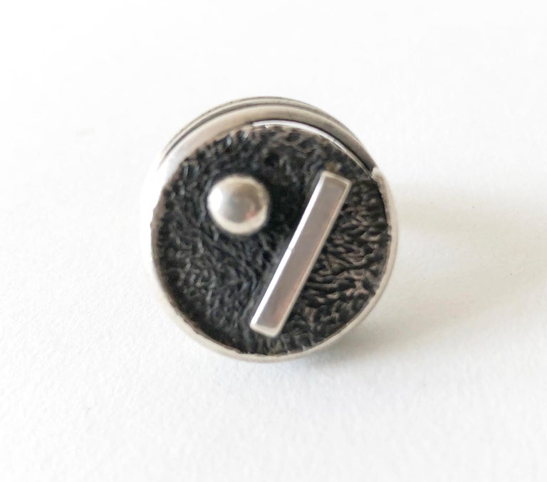 James Parker Sterling Silver San Diego Geometric Modernist Ring In Excellent Condition For Sale In Los Angeles, CA