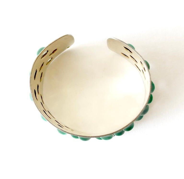Grete Prytz Kittelsen for Tostrup Plated Sterling Enamel Norwegian Cuff Bracelet In Good Condition For Sale In Los Angeles, CA