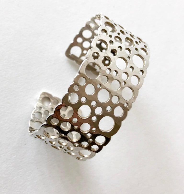 Sterling silver cuff bracelet entitled
