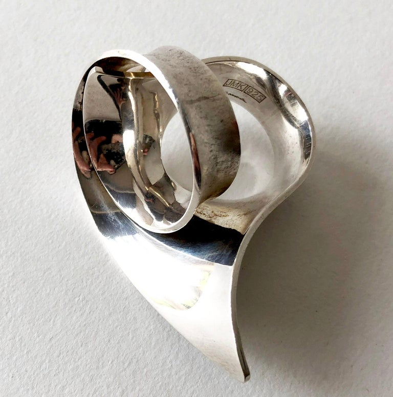 Juha Koskela Sterling Silver Finnish Modernist Statement Ring In Good Condition For Sale In Los Angeles, CA