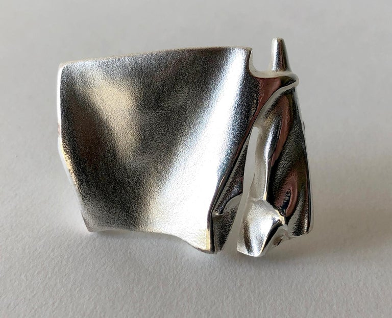 Women's Bjorn Weckstrom for Lapponia Sterling Silver Finnish Modernist Space Age Brooch For Sale