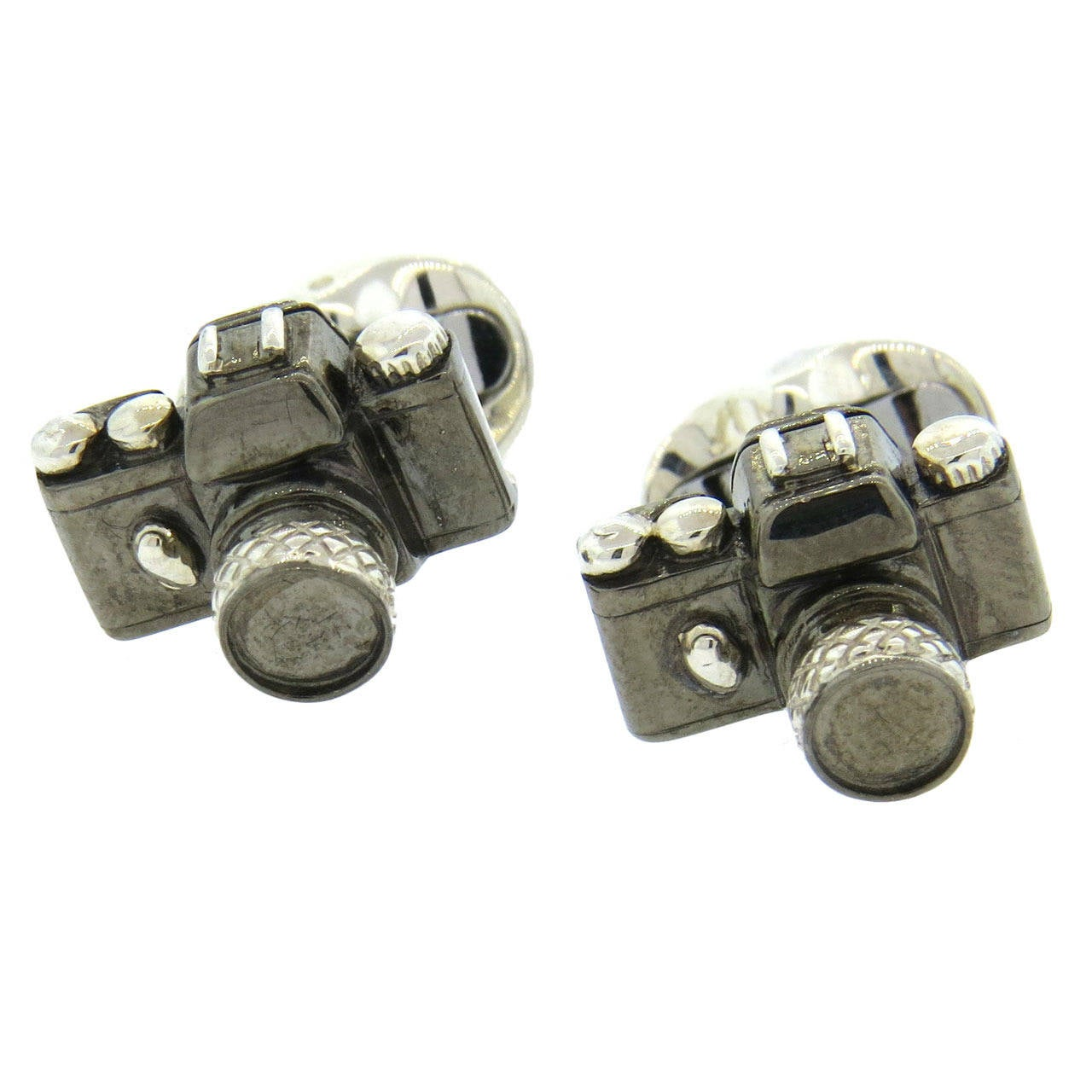 Deakin & Francis Sterling Silver Camera Cufflinks