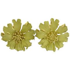 Tiffany & Co. Alpine Rose Gold Flower Earrings