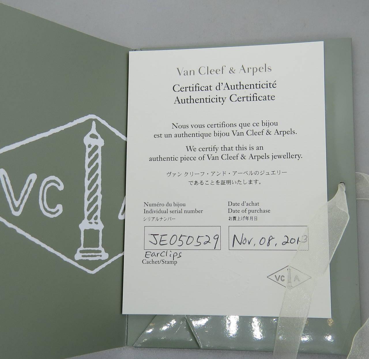 Van Cleef & Arpels VCA Vintage Alhambra Onyx Earrings 4