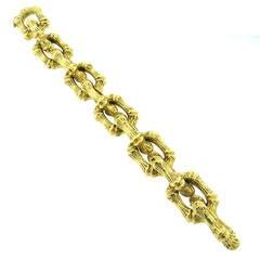 Tiffany & Co. Bamboo Gold Link Bracelet